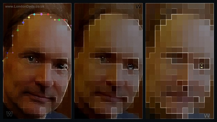 Work No. 888; Sir Tim Berners-Lee in Progressive Pixelation