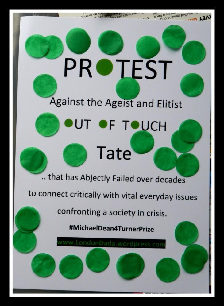 Turner Prize 2016 Dada Protest
