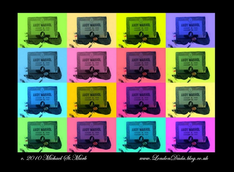 Sixteen Tombstones - homage to Andy Warhol
